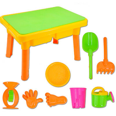 DeAO Basic Sand And Water Table With Lid For Toddlers W/ Assorted Accessories • 23.99£