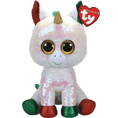 Ty Beanie Flippables 36765 Stardust Unicorn Sequin Flippable Christmas Large • 29.95£