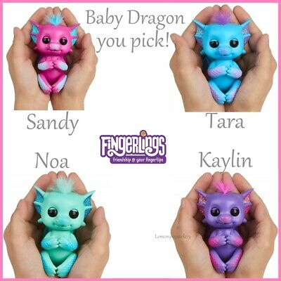 Fingerlings Baby Dragons Glittery Interactive Pet You Choose! • 12.95£