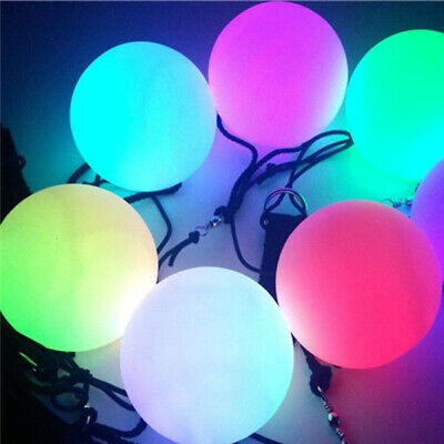 LED Multi-Colours Glow POI Thrown Balls Light Up For Belly Dance Hand Props Dsf • 4.29£