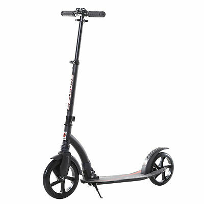 HOMCOM Teens Adult Kick Scooter Aluminum Teen Toy For 14+ Black -87-101.5H Cm • 67.99£