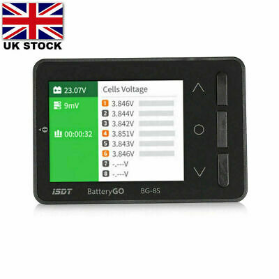 ISDT BG-8S Color Display Dual Support BattGO Smart Battery Checker LiHv O7S2 UK • 32.94£