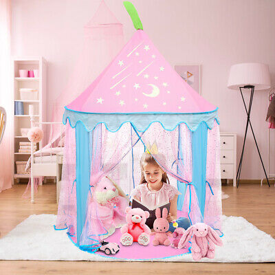 Girls Princess Pop Up Castle Play Tent Girls Playhouse Toy House Kids Fun Garden • 25.95£