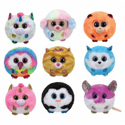 New Official Ty Puffies Soft Plush Toy Harmonie Colby Coconut Waddles Owen Bnwt • 3.95£