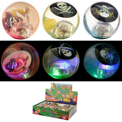 LED Flashing Rubber Bouncy Ball Pirate PocketToy Party Loot Bag Stocking Filler  • 6.28£