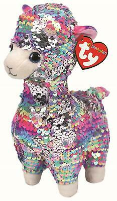 Ty Beanie Flippables 37293 Lola The Rainbow Llama Flippable Medium • 14.95£