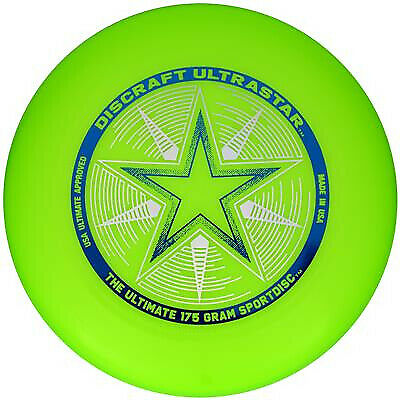 Discraft Frisbee 175g Ultra Star Green Sports Disc • 10.95£