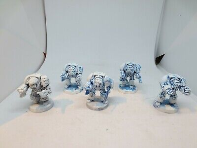 40K Space Marine Terminator Squad X 5 Part Painted Warhammer Metal Oop 90s A G4 • 26.99£
