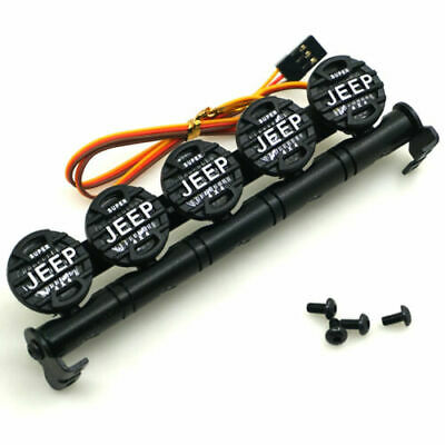 5 Led Metal Roof LED Light Bar Bucket Lampshade For RC SCX10 TRX4 Etc • 15£