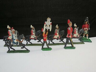 Antique Flat Back Lead Soldiers Some On Horseback X 7 Plus One Other  • 20£