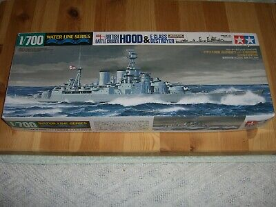 Hms Hood & E Class Destroyer - Two 1/700 Scale Tamiya Kits In One Box • 24.95£