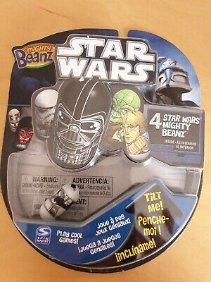 Star Wars Mighty Beanz 4 Pack BNIP Rare Collectable 2011 • 17.50£
