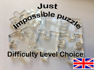 Clear Impossible Difficult Jigsaw Size / Pieces Choice Transparent Jigsaw Puzzle • 32.50£