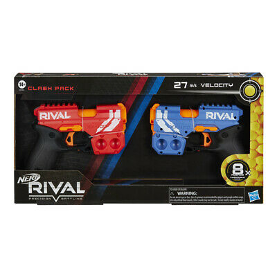 Nerf Rival Clash Pack Toy Gun Blasters Twin Set Red Blue Bundle Bullets • 19.99£