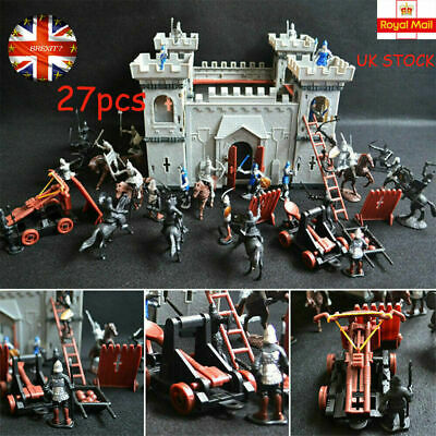 UK Medieval Castle Toy Knights Game Soldiers Infantry Accessory Playset History • 15.90£