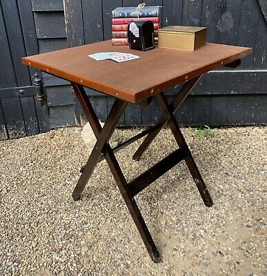 Vintage Fold Away Games Table / Card Table • 58£