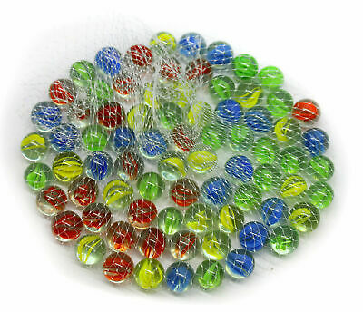 200 Coloured Glass Marbles Kids Traditional Toys Classic Retro Gift Game Party • 9.40£