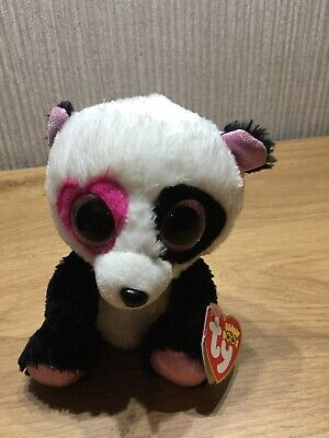 TY Beanie Boos Plush Soft Toy Teddy Collectable Brand New Rare Mandy Panda Bear • 28.95£