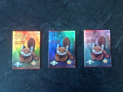 Ty Beanie Baby Collectors Trading Cards - EU GREEN, BLUE, SILVER • 11.99£