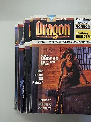 10 Dragon Magazines - Lot Tsr Dungeons And Dragons Weis Hickman • 10.99£