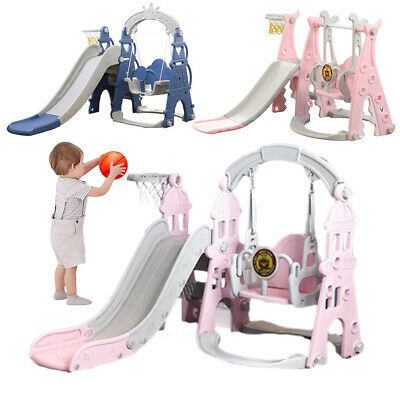 Kids Swing Playground Slide Children Play House Outdoor Garden Toddler Baby Toy • 104.96£