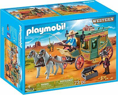 Playmobil 70013 Western Carriage Coach Set Cowboy Adventure Brand New • 25.99£