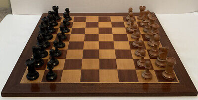 Vintage Wooden Chess Set With Lead Weighted Pieces • 89.99£
