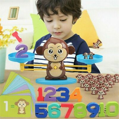 UK Monkey Math Game Fun Learning, Educational Balance  Toy Gift For Kids • 13.23£