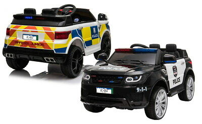 Kid's Sporty Q7 SUV Police Ride On Car 2 Seater Age 3 To 6 Parental Remote • 189.99£