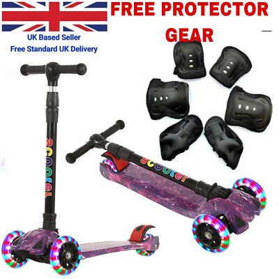 3 Wheels LED Kids Child Kick Push Scooter Flashing Tilt Lean Boys Girls Scooter  • 27.98£
