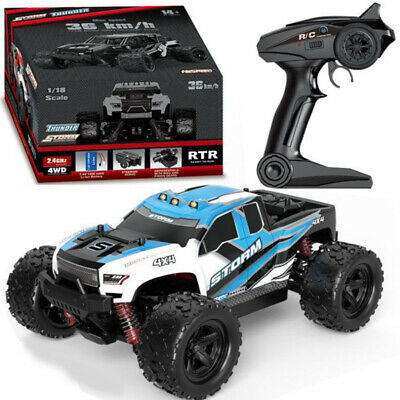 New 40+MPH High Speed 1/18 Scale Car 2.4G 4WD Fast Remote Controlled Large Truck • 40.84£