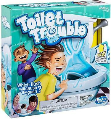 Hasbro Toilet Trouble Childrens Surprise Water Spray Game • 8.99£