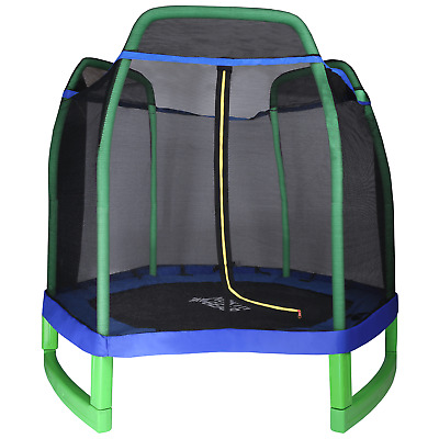 North Gear 7ft Kids Trampoline With Safety Enclosure Net • 169.99£