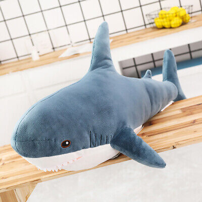 Cute Shark Doll Plush Toy Soft Stuffed Sleeping Pillow Large Animals Comfort UK • 22.99£