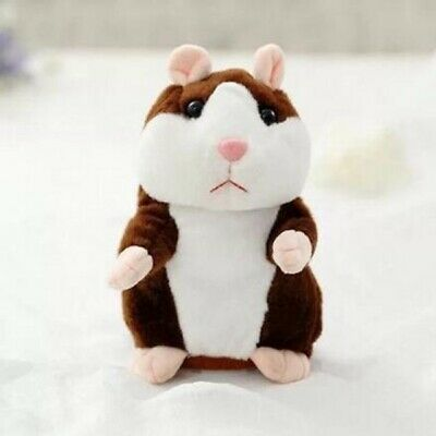 Talking Hamster Cute Nod Mouse Record Chat Mimicry Pet Plush Toy Xmas Gift • 6.99£