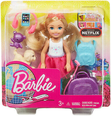 Barbie Chelsea Doll And Travel Set With Puppy • 11.99£
