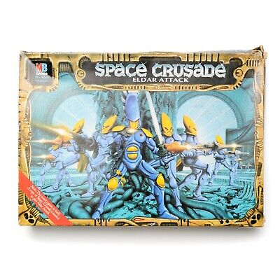 Warhammer 40k Space Crusade - Eldar Attack Expansion 100% Complete And Unpainted • 200£