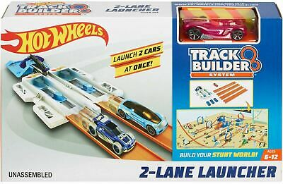 Hot Wheels® Track Builder 2 LANE LAUNCHER Race Track Car Playset • 14.99£