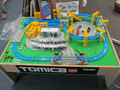 Tomy Tomica Hypercity Trackmaster Train Set On Wooden Table Set • 50£