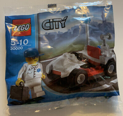 Lego  City Medics Doctors Car With Minifigure Polybag New/Sealed - 30000 • 3.99£