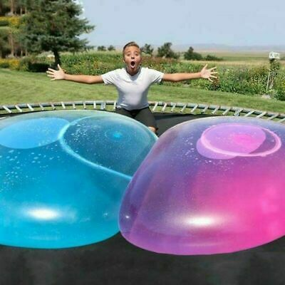 Outdoor Big Amazing Bubble Ball Water-filled Interactive Rubber Balls Toy 120cm • 10.98£
