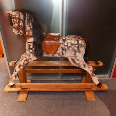 Traditional Painted, Wooden Rocking Horse • 280£