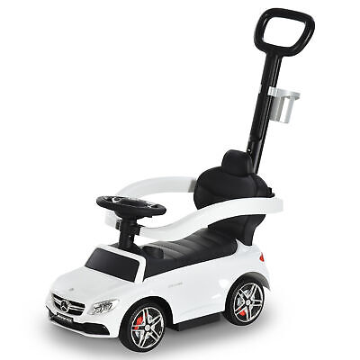 HOMCOM 3 In 1 Ride On Push Car For Toddlers Stroller Sliding Walking Car White • 44.99£
