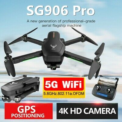 BEAST SG906 PRO Brushless GPS RC Drone 4K HD Camera Wifi FPV Foldable Quadcopter • 131.29£