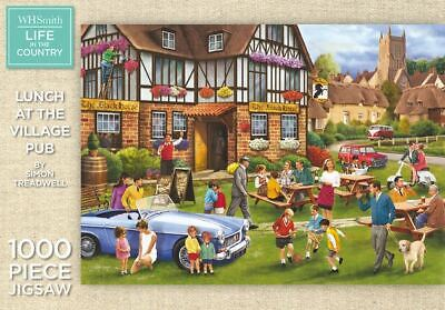 WHSmith Lunch At The Village Pub By Simon Treadwell 1000 Piece Jigsaw Puzzle • 10.49£