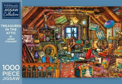 WHSmith Treasures In The Attic By Aimee Stewart 1000 Piece Jigsaw Puzzle • 10.49£