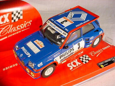 Scalextric SCX Renault 5 MaxiTurbo #3 Blue Phillips 62400 MB • 11£