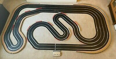 Scalextric Digital Layout With Straight Lane Changer & 2 Cars • 485£
