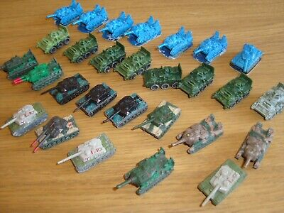Kenner Mega Force Tanks Job Lot Of 28 Micro 6mm 1/300 Scale Scifi Armour • 8£