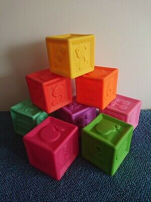 Set Of Rubber Little Tikes Baby Building Blocks • 2.30£